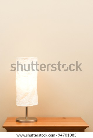 Lamp still life - vertical