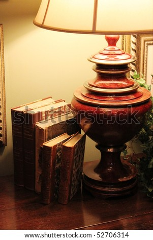 Lamp with books