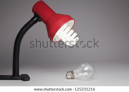 Lamp with changed bulb.