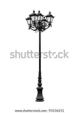 lamppost. An isolated photo of an old lamppost.
