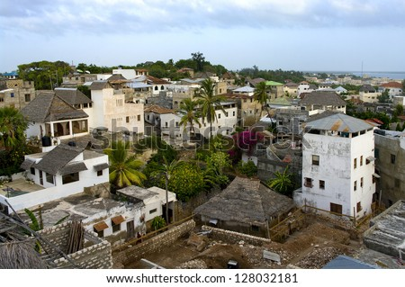 Lamu Town on Lamu  Island in Kenya.
