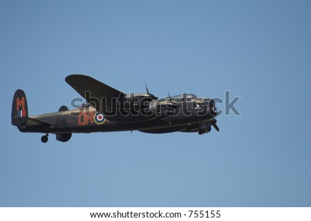 Lancaster in flight on an airshow