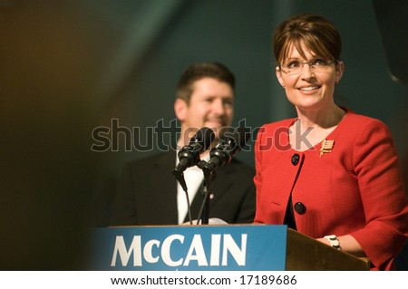 Lancaster, PA - Sarah Palin - SEPTEMBER 9: Vice Presidential Hopeful, Governor Sarah Palin (R-AL), speaks to a crowd of thousands at a campaign rally for John McCain in Lancaster, PA. September 9, 2008