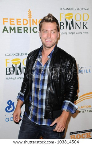 Lance Bass at the 'Rock A Little, Feed A Lot' Benefit Concert. Club Nokia, Los Angeles, CA. 09-29-09