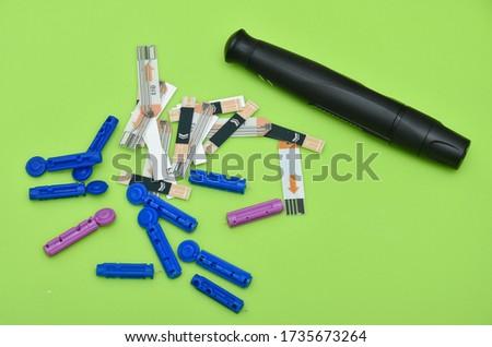 Lancet pen ,Diabetes Glucose Test Strip.Blood Glucose Test Strips