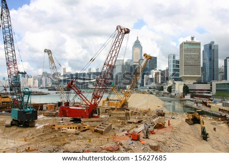 stock photo : Land reclamation