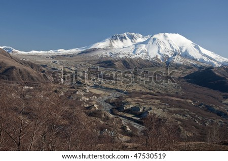 Land slide and Tuttle river below Mt. St. Helens