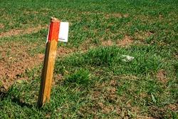Land surveying, boundary post and boundary stone