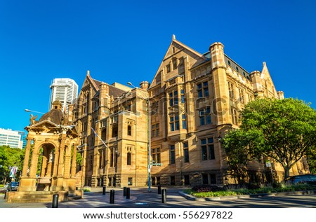 Land Titles Office, a sandstone Neo-Gothic building in Sydney, Australia #556297822