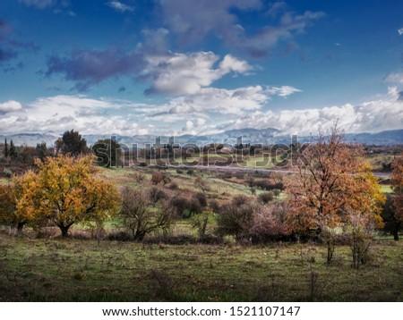 Landcape in Megalopoli, Arcadia, Greece #1521107147