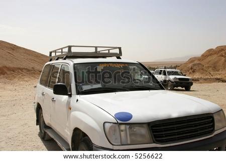 Landcruiser captured during safari in Tunisia