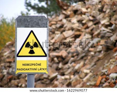 Landfill of hazardous radioactive contaminants
