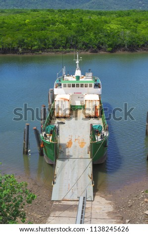 Landing Barge on the Barge Ramp, Portsmith, Cairns, Queensland, Australia
