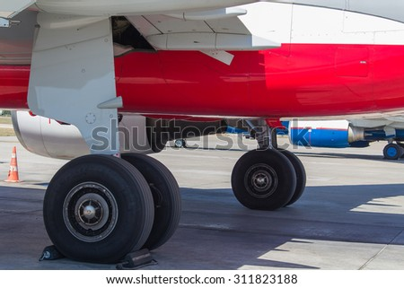 stock-photo-landing-gear-with-shadow-of-