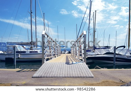 Landing Stage in Swiss - stock photo