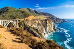 Landmark Bixby Creek Bridge in Big Sur, California