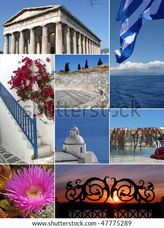 Landmark Collage of Greece