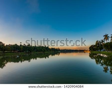 Landmark Lagoa da Pampulha, in Belo Horizonte city, Brazil. Important architectural ensemble designed by Oscar Niemeyer