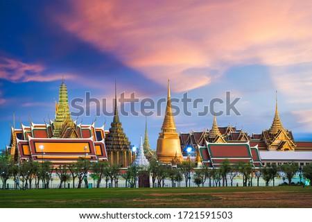 Landmark of Bangkok city Temple of the Emerald Buddha Bangkok, Asia Thailand