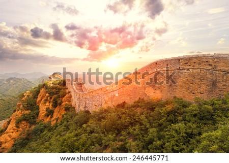 landmark of china great wall...