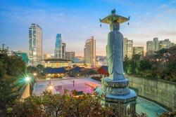 Landmark of Seoul Bongeunsa Temple in the Gangnam District of Seoul, Korea.
