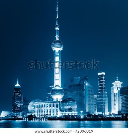 landmark of shanghai china.