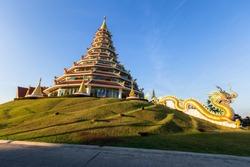 Landmark Temple Wat Huai Pla Kang (Chinese temple) at Chiang Rai, Thailand