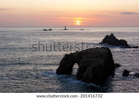 Lands End Cornwall England UK Zdjęcia stock ©
