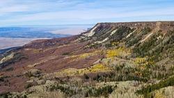 Lands End, Grand Mesa, vivid landscape panorama