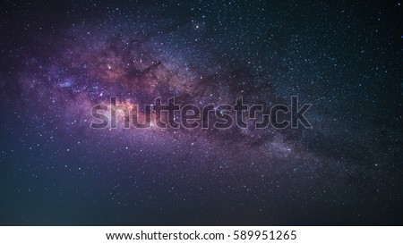 Landscape and star night milky way nebula