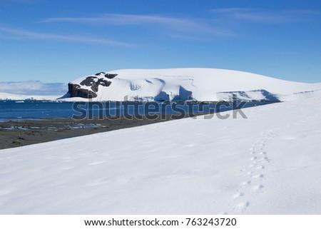 Landscape Antarctic peninsula