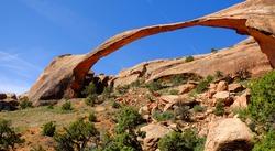Landscape Arch.  Arches National Park, Utah