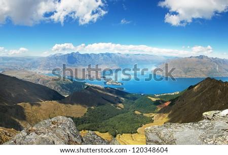 Landscape around Queenstown, New Zealand