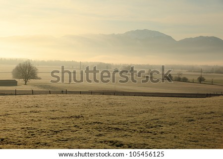 landscape at morning