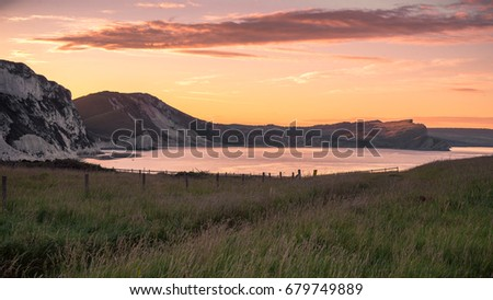 Landscape at sunrise #679749889