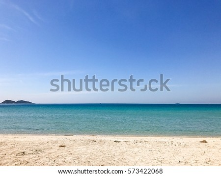 landscape beach and blue sky