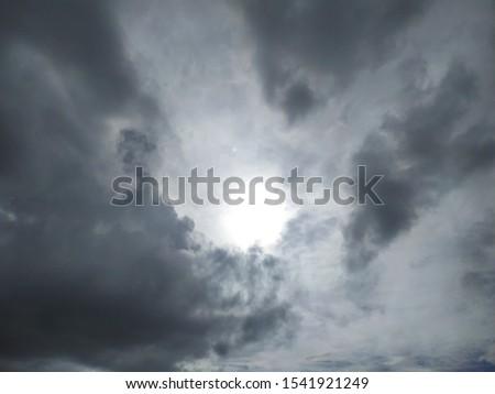 Landscape, beautiful cloudy sky, cloudy sun, cloudscape #1541921249