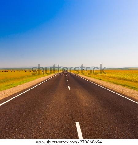 landscape beautiful road receding distance background city ecology  transport