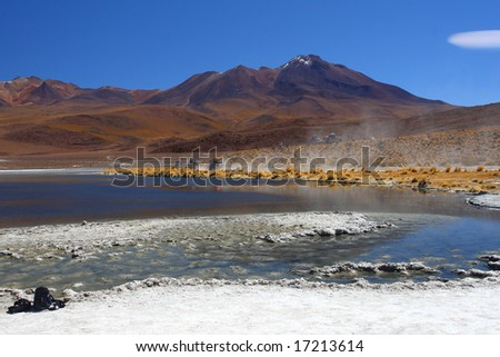 landscape, bolivia desert and mountain - stock photo