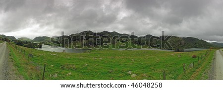 Landscape - Clody day in Norway. Photo taken on: August 18, 2009