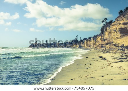 Landscape Coast of southern California. San Diego. #734857075