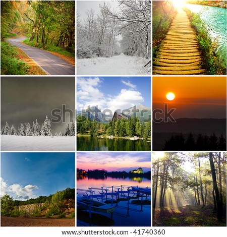 Landscape collection - Shutterstock ID 41740360
