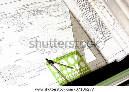 Landscape Design with Drafting Tools, horizontal
