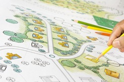 Landscape Designs Blueprints For Resort.