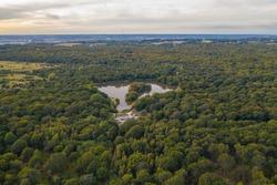 Landscape drone shots, Epping Forest London, UK