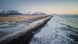 Landscape drone shots of icealnd hightlands