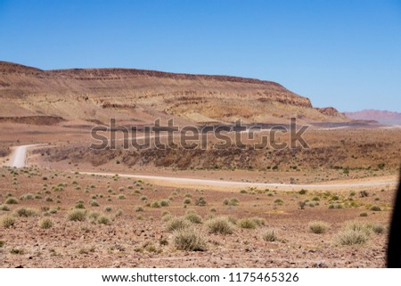 landscape endless road namibia africa desert #1175465326