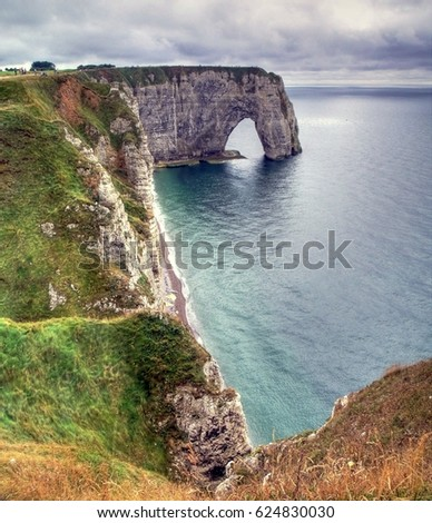 Landscape Etretat Normandy France #624830030