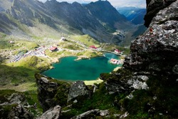 Landscape from Balea Lake, Fagaras Mountains, Romania in the summer