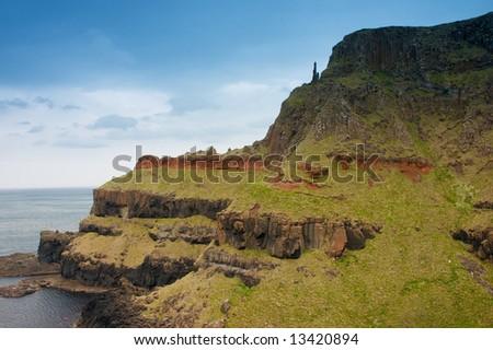 landscape from  County Antrim northern ireland UK